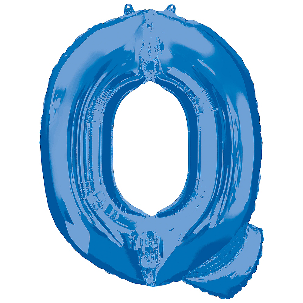 34in Blue Letter Balloon (Q) Image #1