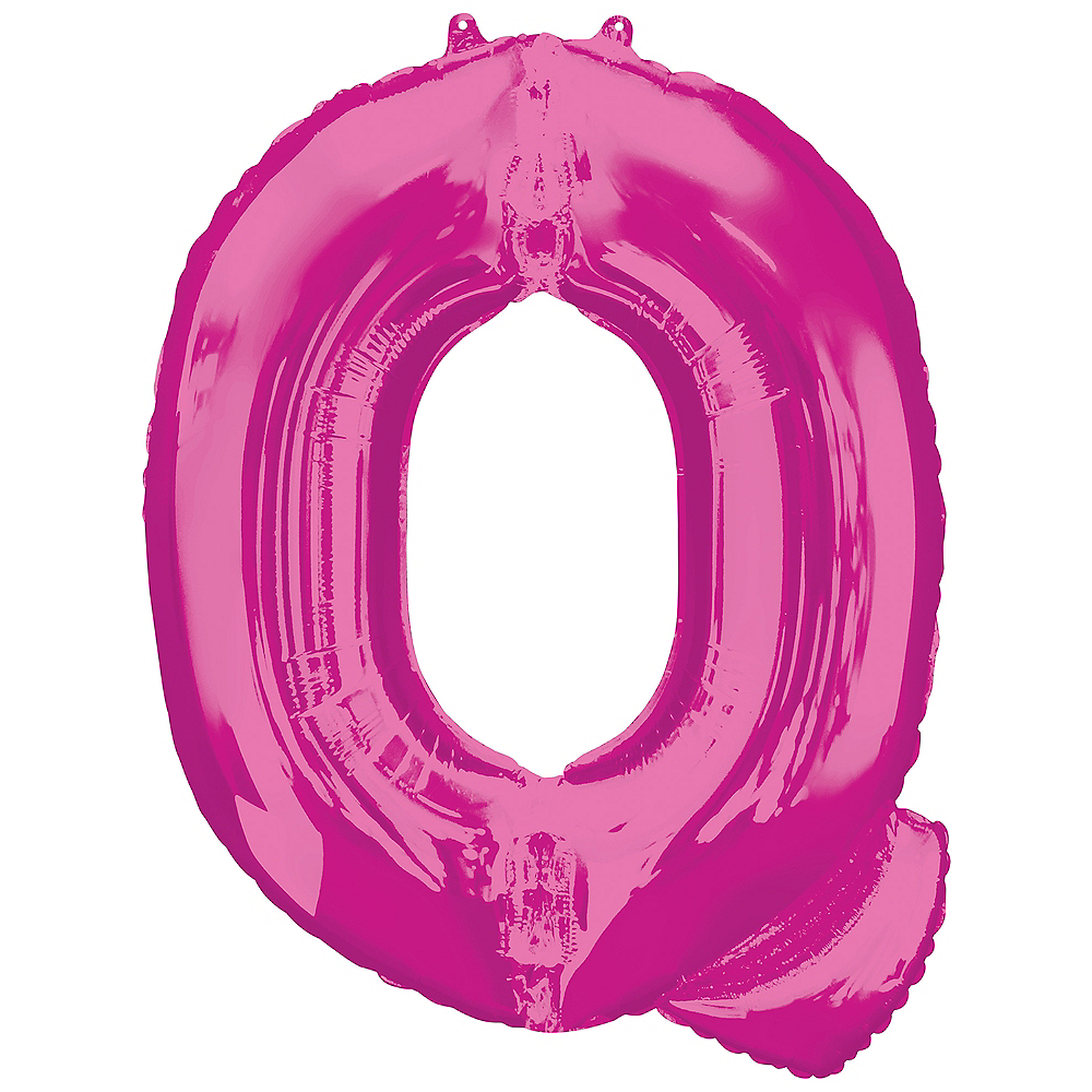 Giant Pink Letter Q Balloon 24in x 32in | Party City
