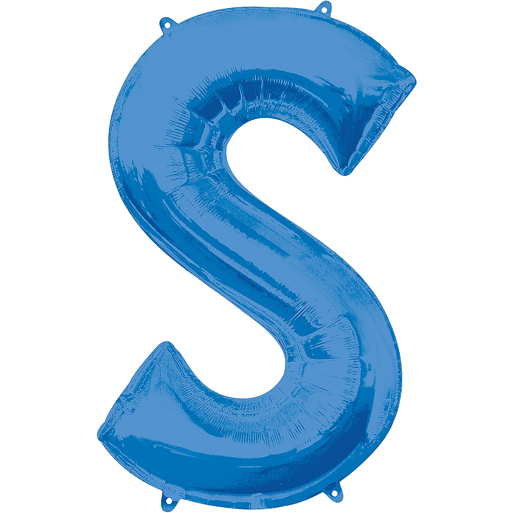 34in Blue Letter Balloon (S) Image #1