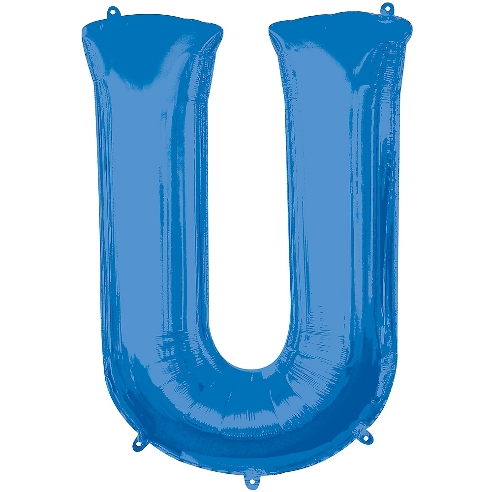 34in Blue Letter Balloon (U) Image #1