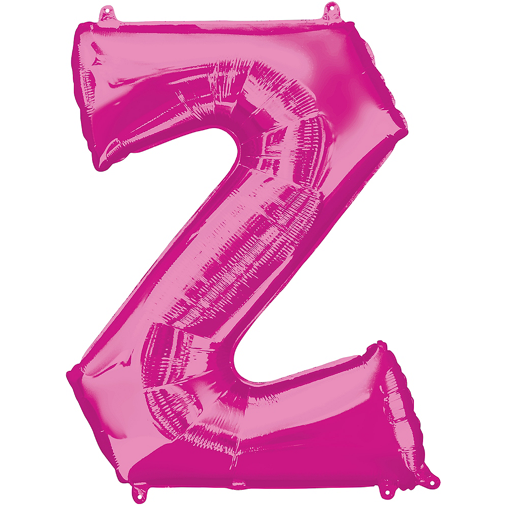 Giant Pink Letter Z Balloon 25in x 33in | Party City Canada