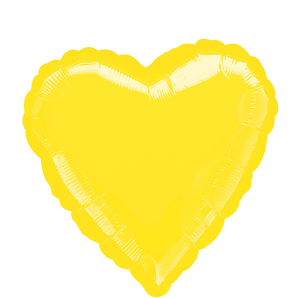 Nav Item for 17in Yellow Heart Balloon Image #1
