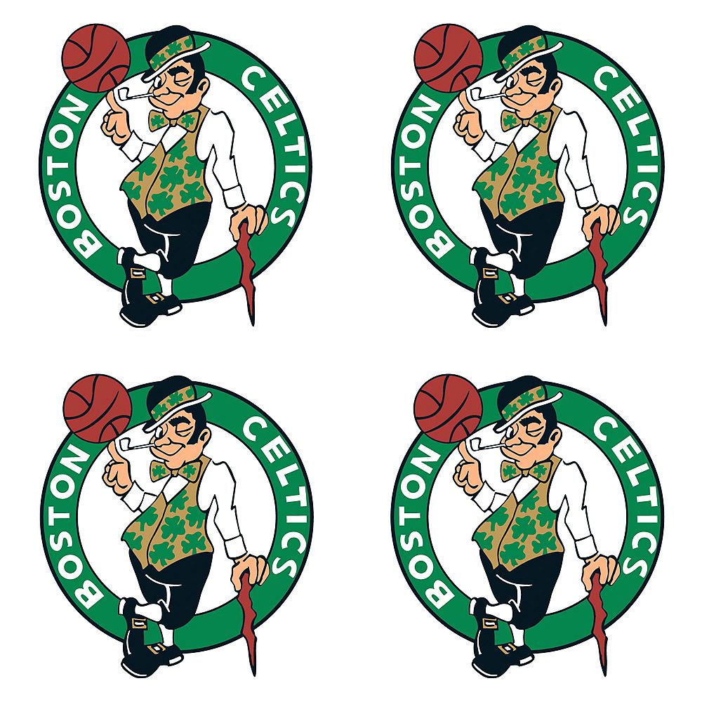 Boston Celtics Face Tattoos 4ct Image #1