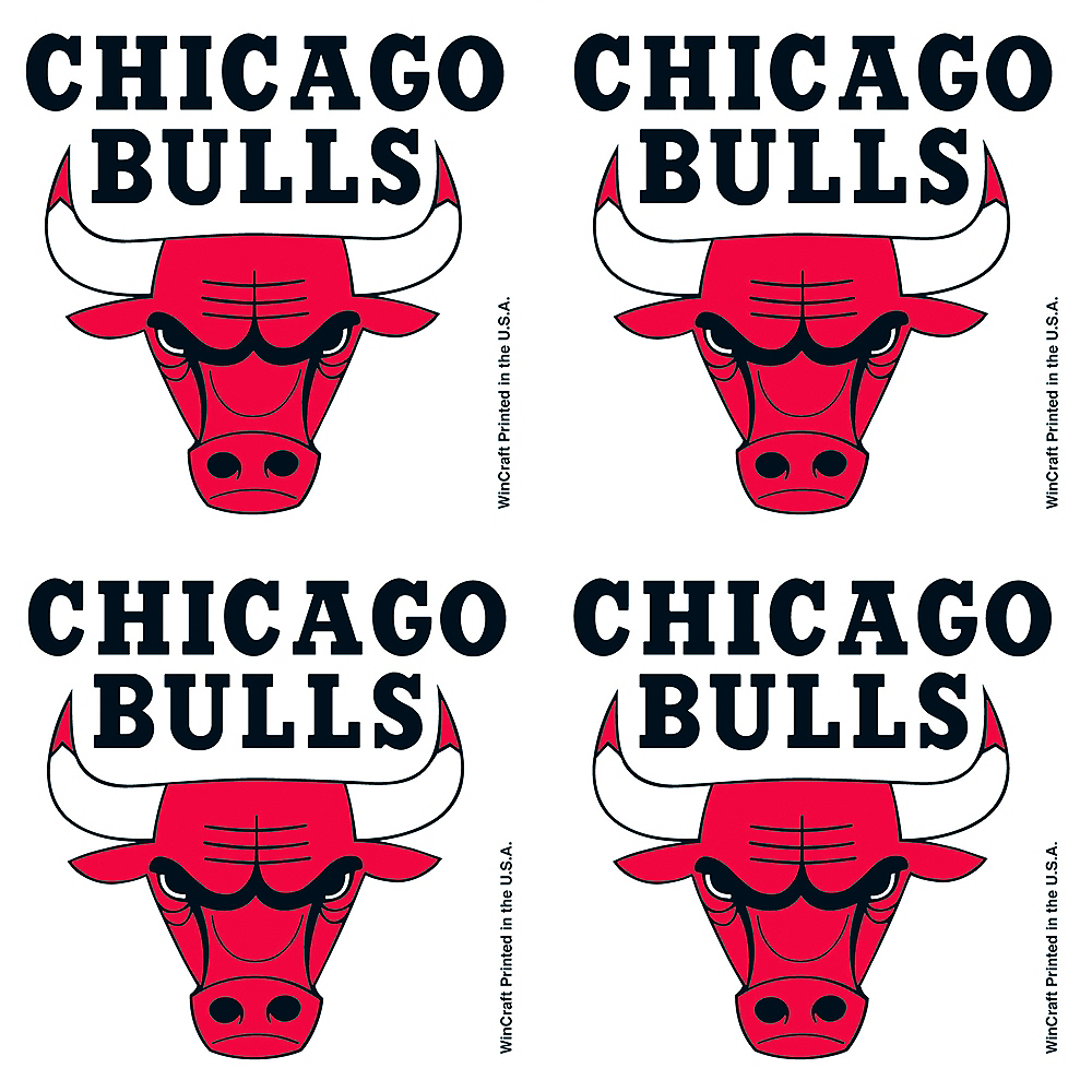 Chicago Bulls Face Tattoos 4ct Image #1