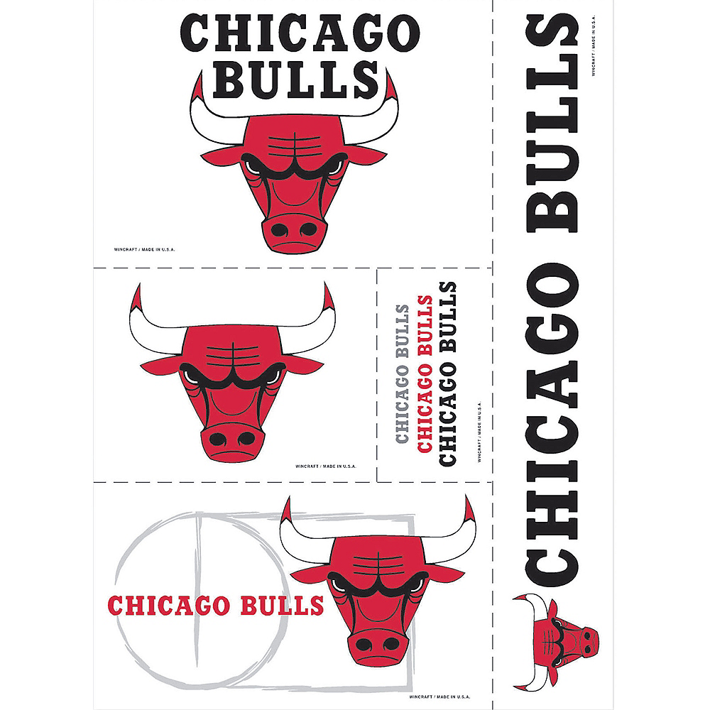 Chicago Bulls Decals 5ct Image #1