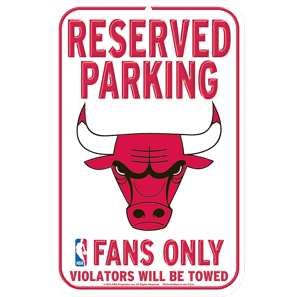 Reserved Parking Chicago Bulls Sign Image #1