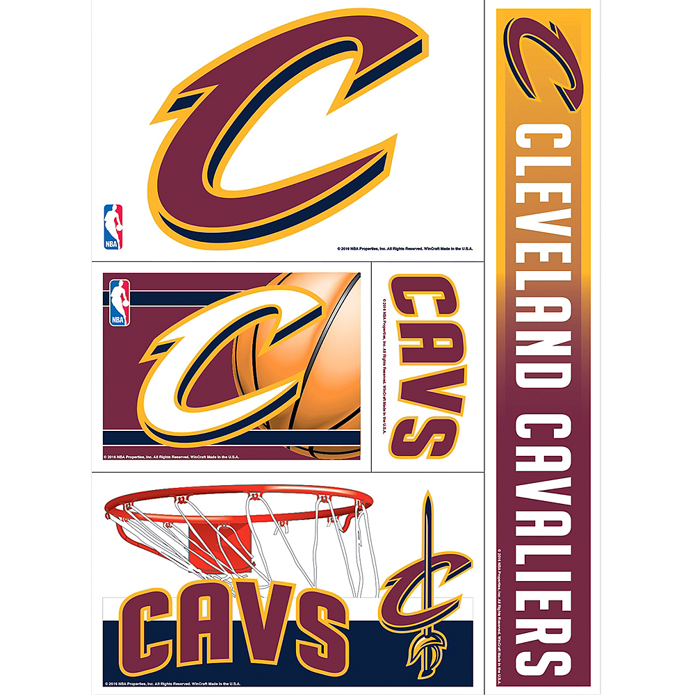 Nav Item for Cleveland Cavaliers Decals 5ct Image #1