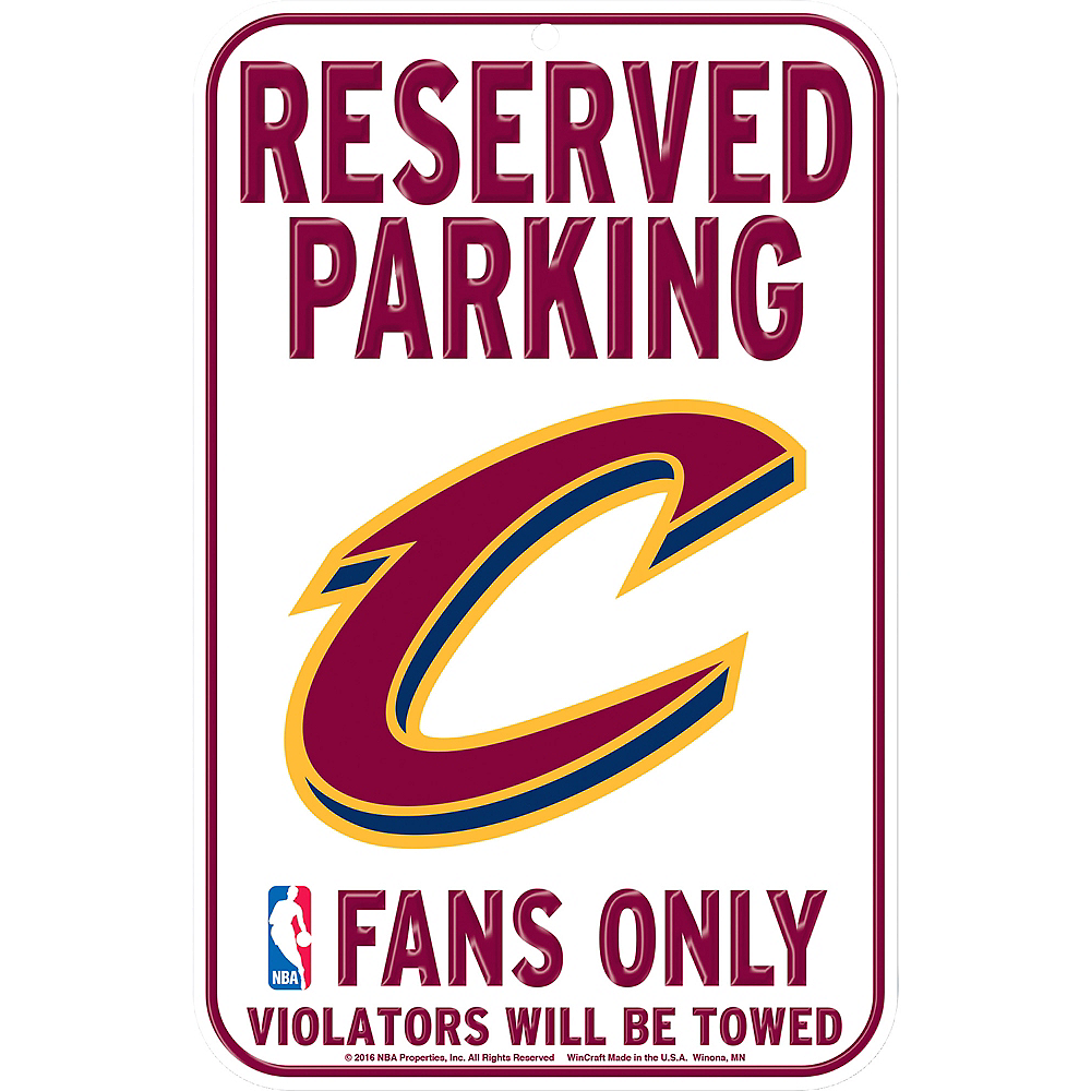 Reserved Parking Cleveland Cavaliers Sign Image #1