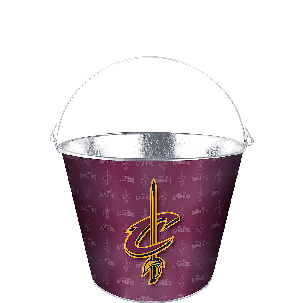 Nav Item for Cleveland Cavaliers Galvanized Bucket Image #1