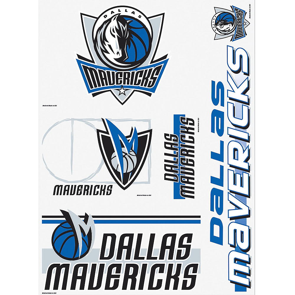 Dallas Mavericks Decals 5ct Image #1