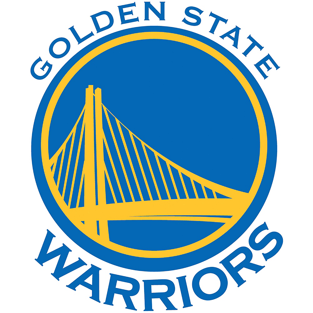 Golden State Warriors Cling Decal Image #1