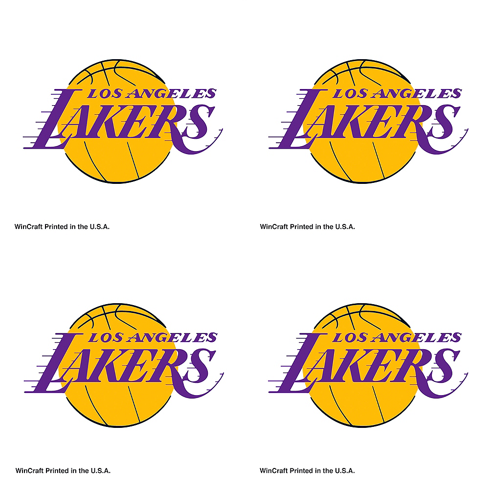 Los Angeles Lakers Face Tattoos 4ct Image #1