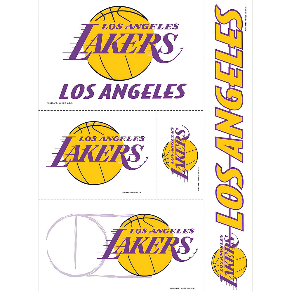 Los Angeles Lakers Decals 5ct Image #1