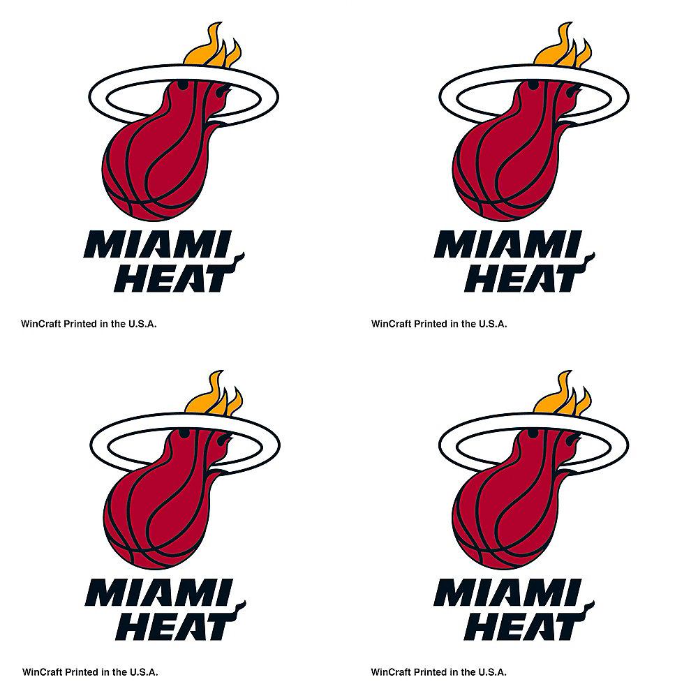 Nav Item for Miami Heat Face Tattoos 4ct Image #1