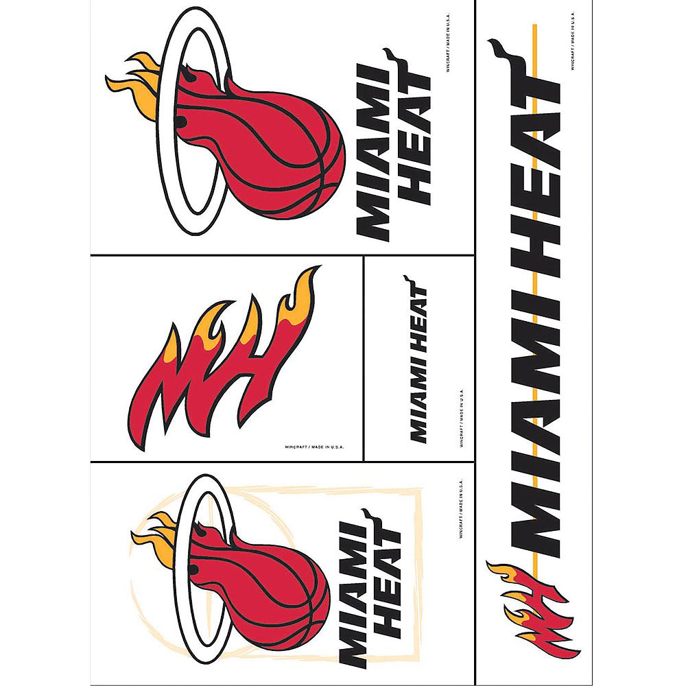 Miami Heat Decals 5ct Image #1
