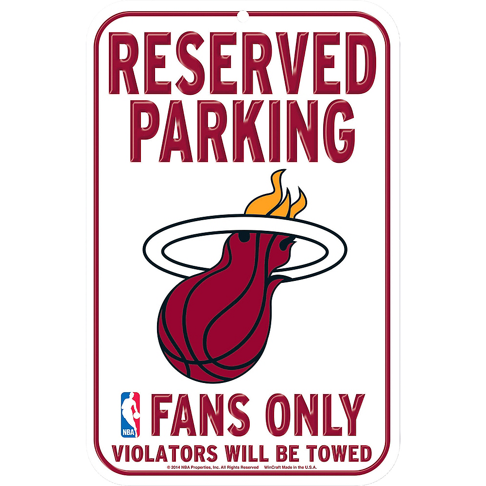 Reserved Parking Miami Heat Sign Image #1