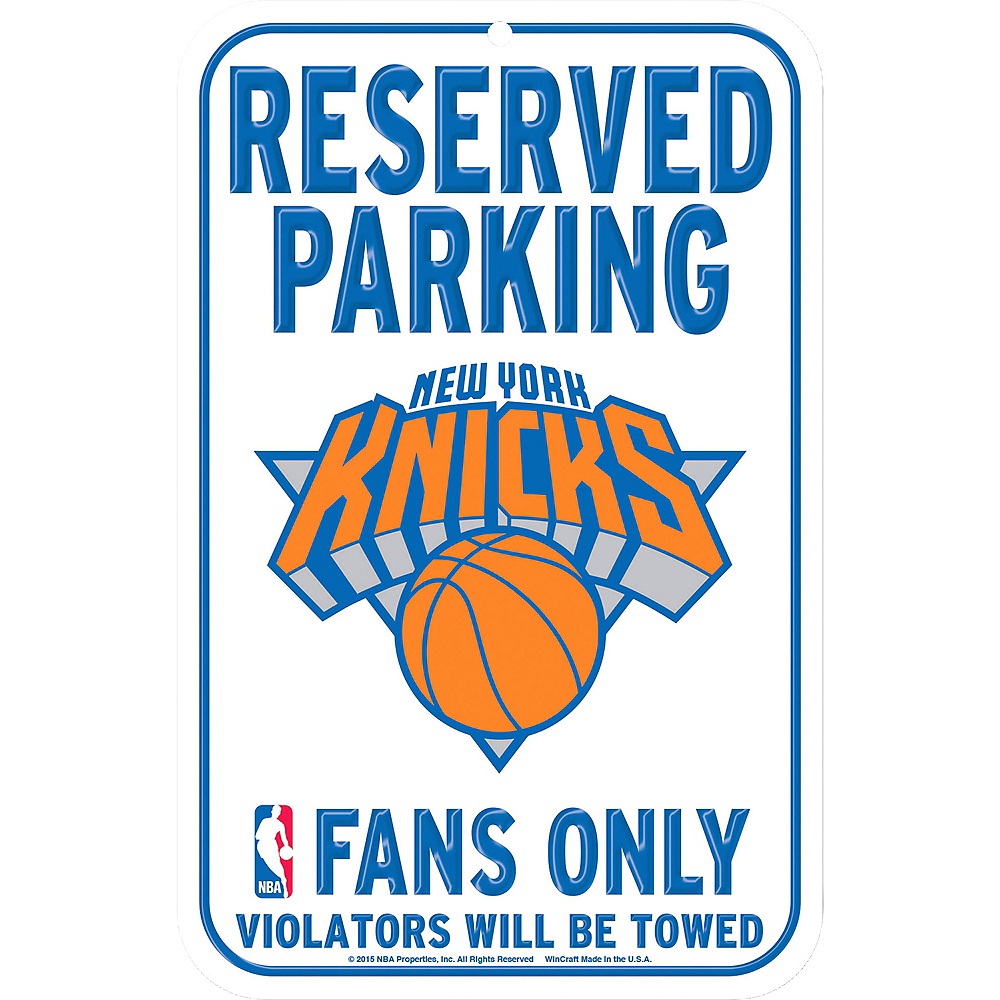 Reserved Parking New York Knicks Sign Image #1