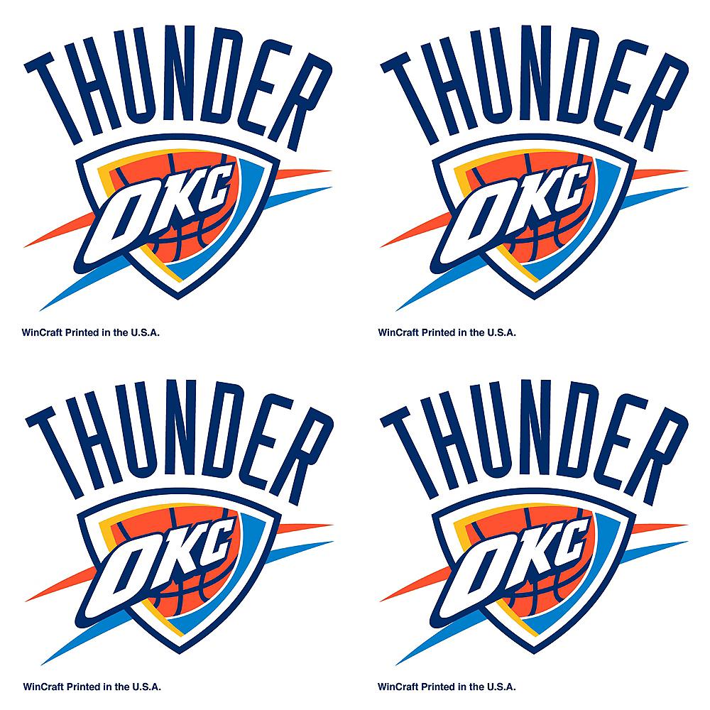 Oklahoma City Thunder Face Tattoos 4ct Image #1