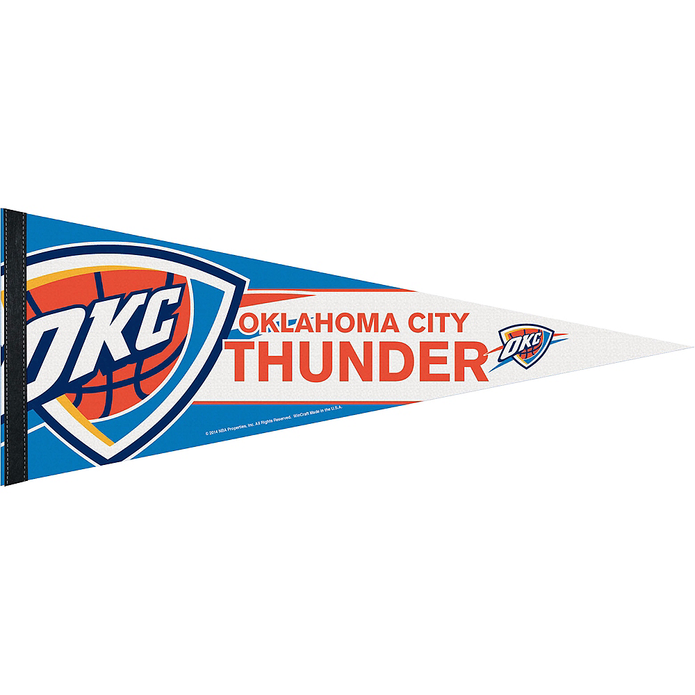 Nav Item for Oklahoma City Thunder Pennant Flag Image #1
