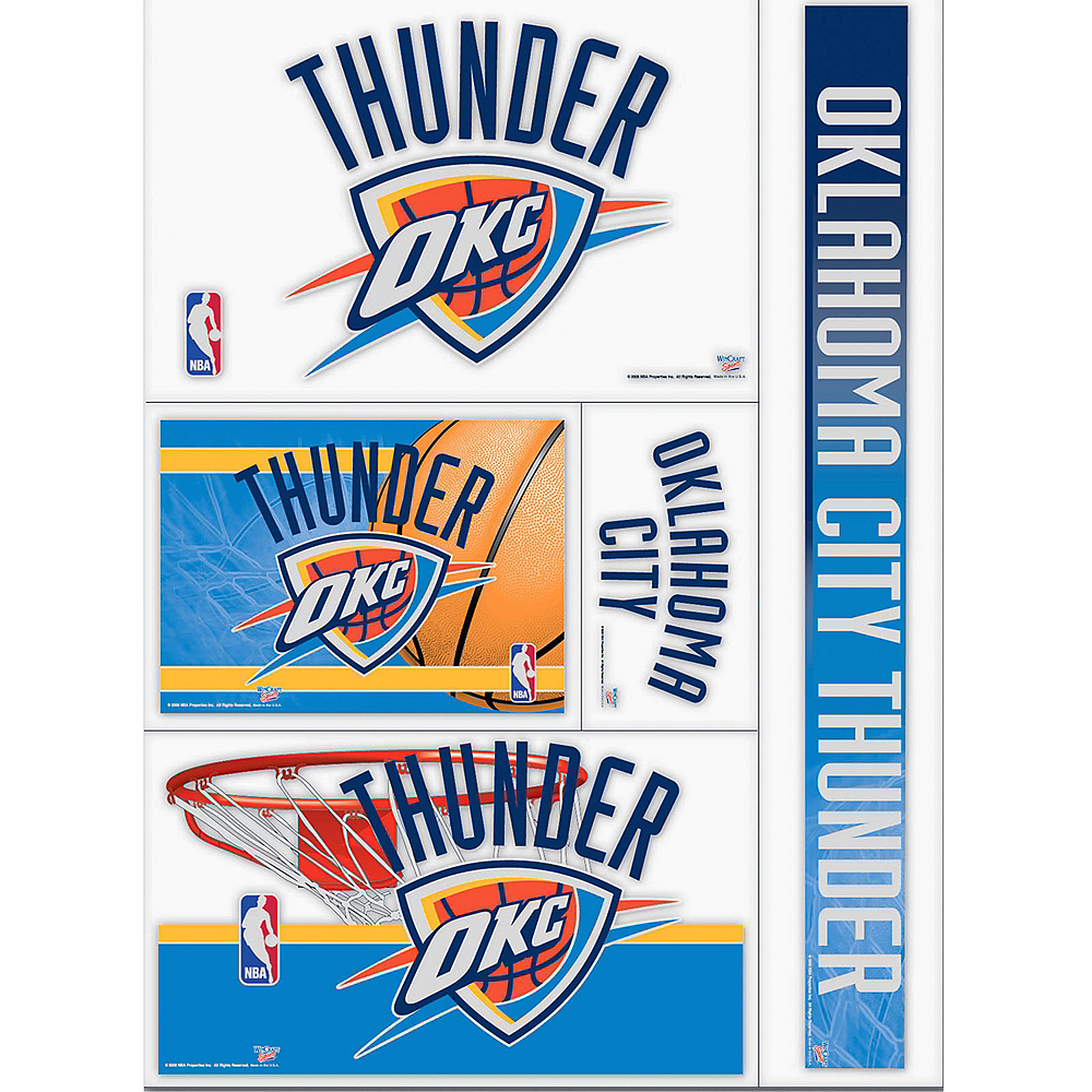 Oklahoma City Thunder Decals 5ct Image #1