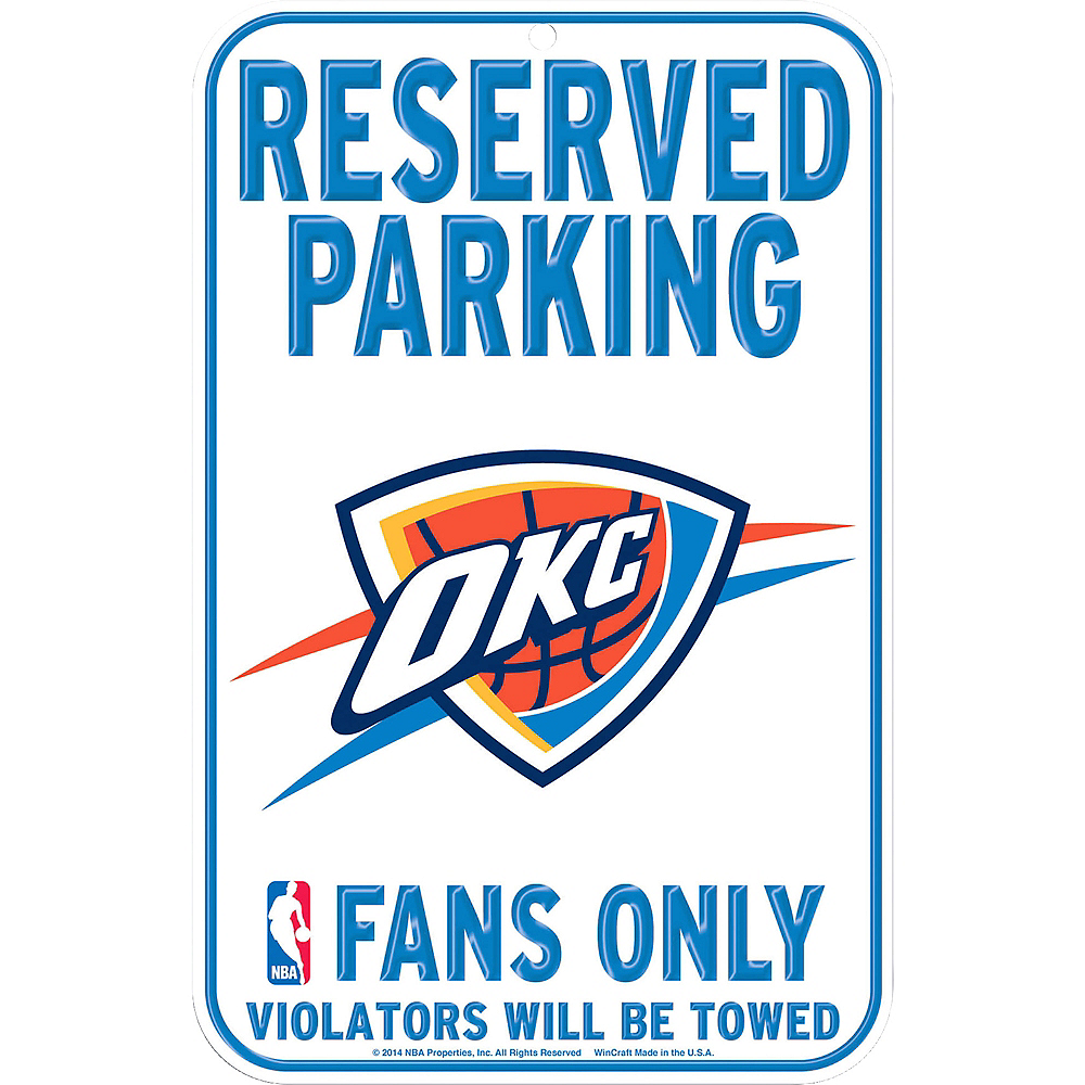 Reserved Parking Oklahoma City Thunder Sign Image #1