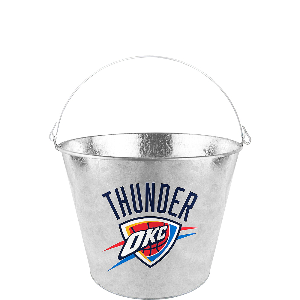 Oklahoma City Thunder Galvanized Bucket Image #1