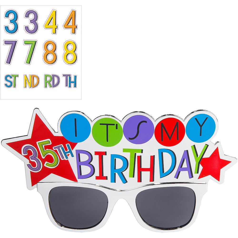 Rainbow Happy Birthday Sunglasses Kit Image #1