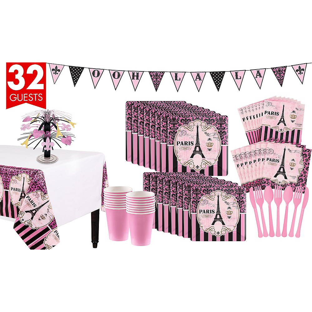 A Day In Paris Tableware Kit for 32 Guests Image #1