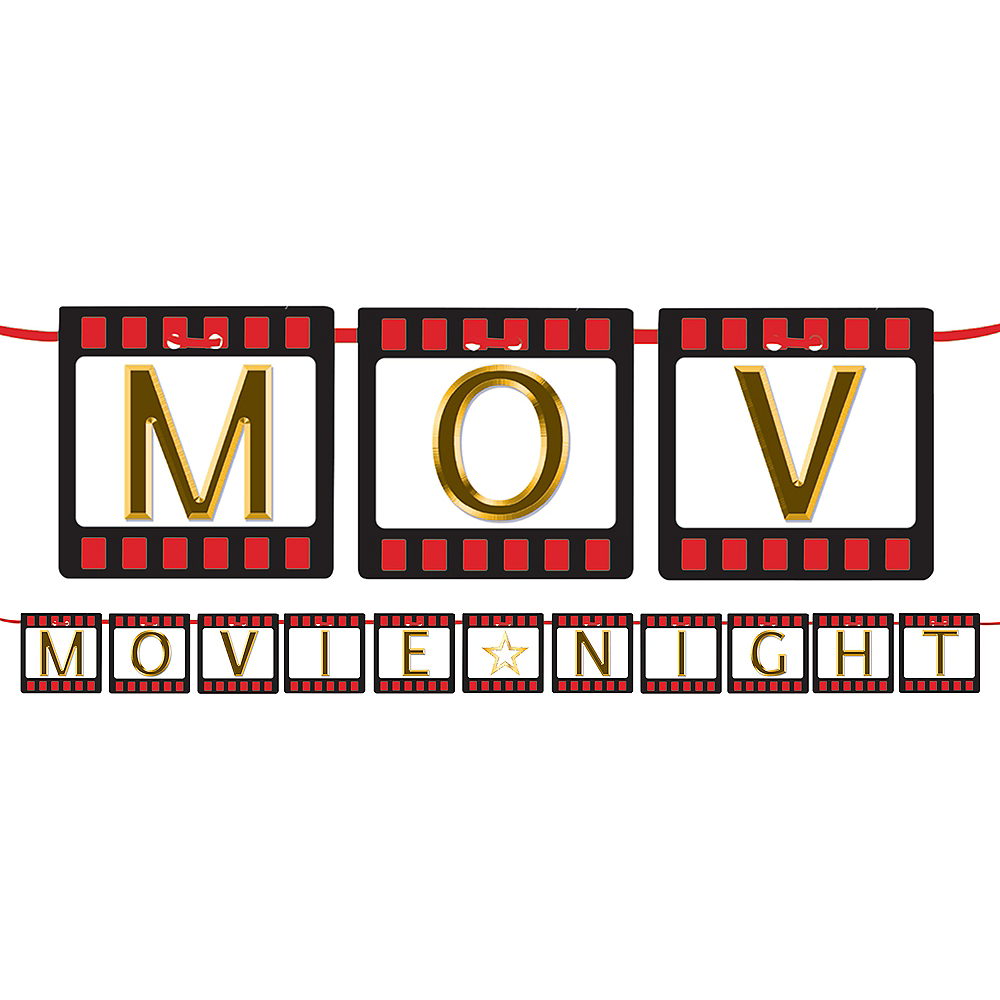 Hollywood Movie Night Letter Banner Kit Image #1