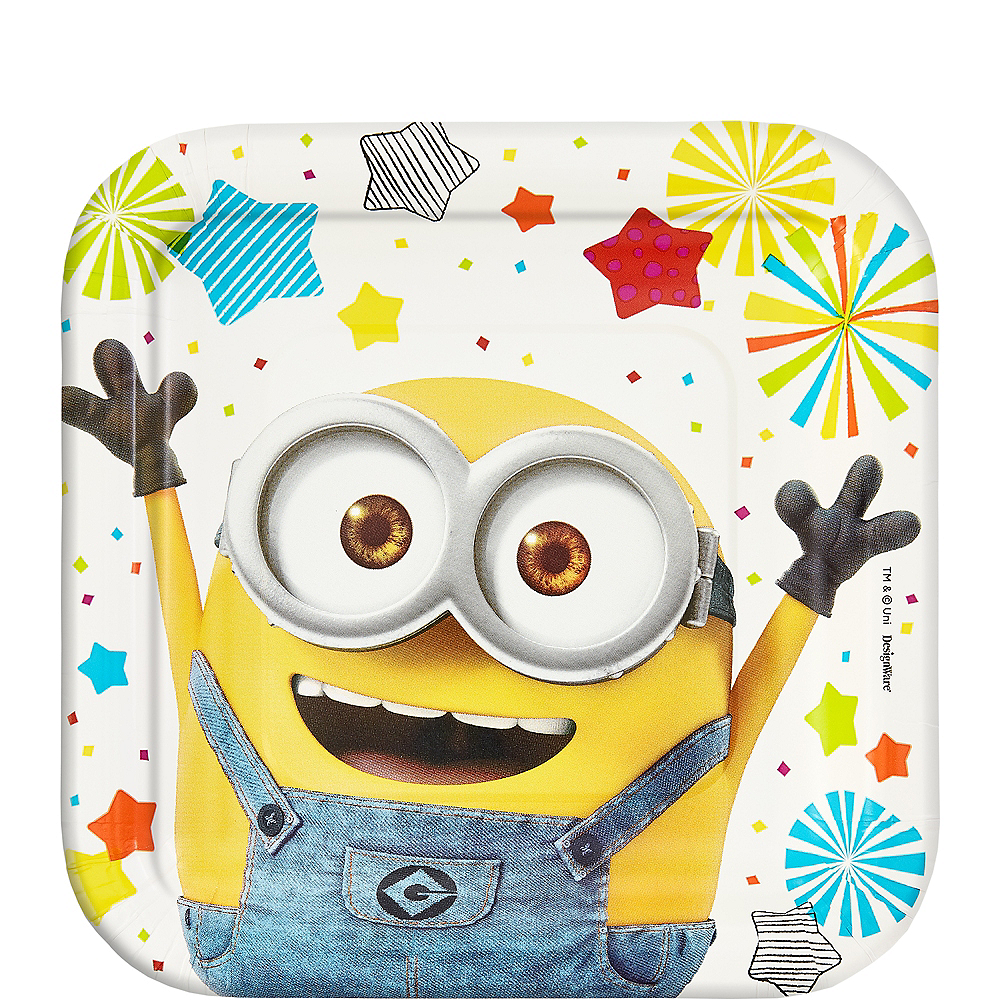 Nav Item for Minions Dessert Plates 8ct Image #1
