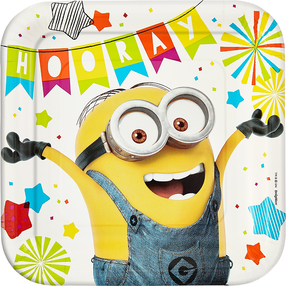 Minions Lunch Plates 8ct Image #1