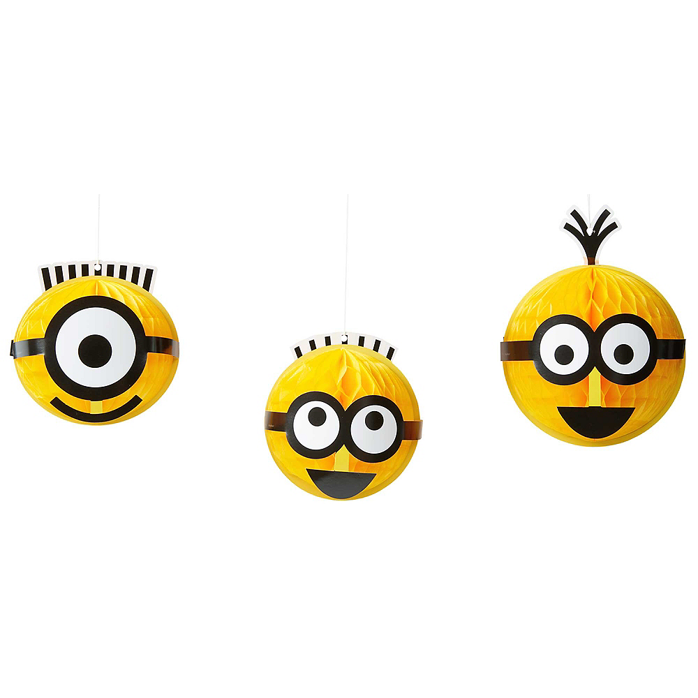 Despicable Me Honeycomb Balls 3ct Image #1