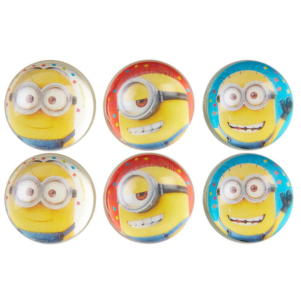Minions Bounce Balls 6ct Image #1