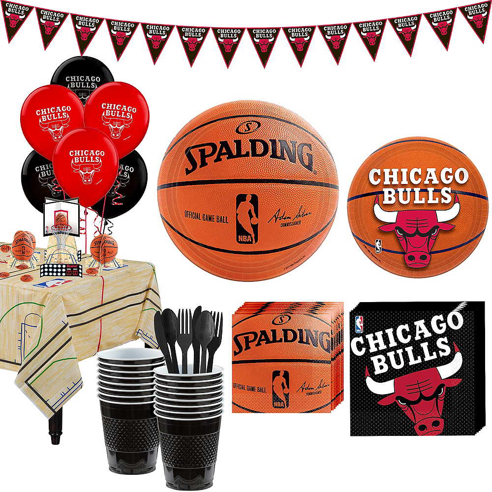 Super Chicago Bulls Party Kit 16 Guests Image #1