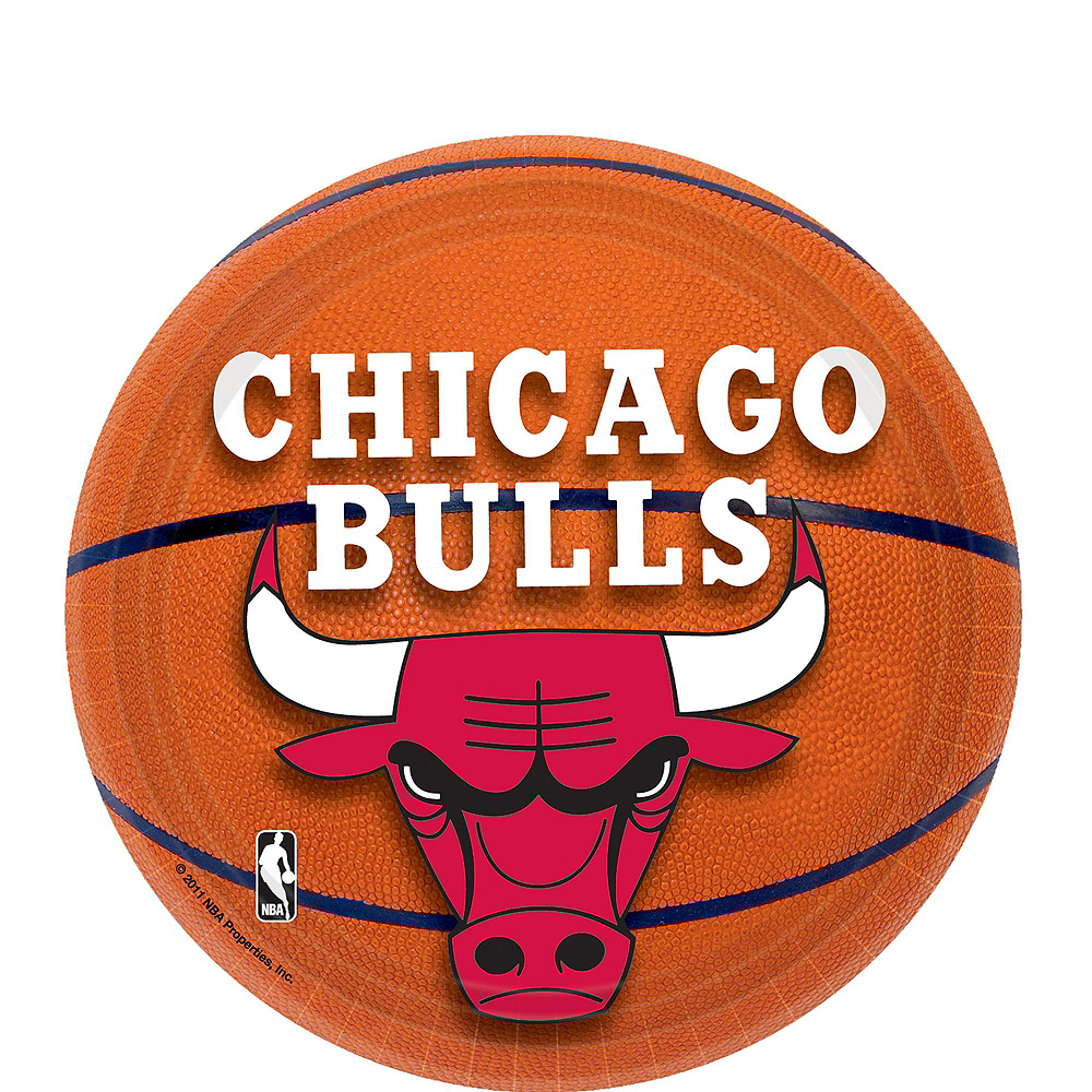 Super Chicago Bulls Party Kit 16 Guests Image #2