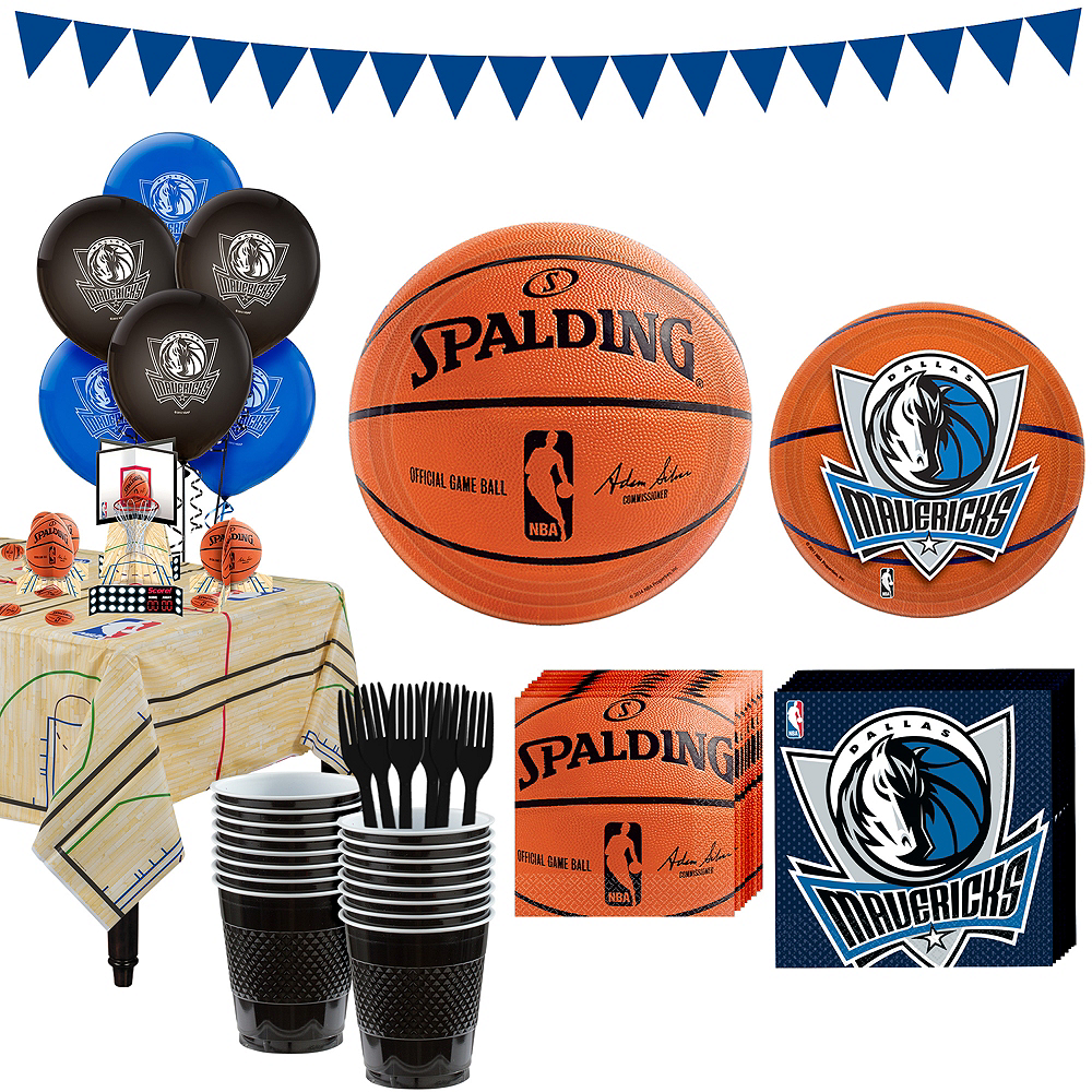 Super Dallas Mavericks Party Kit 16 Guests Image #1