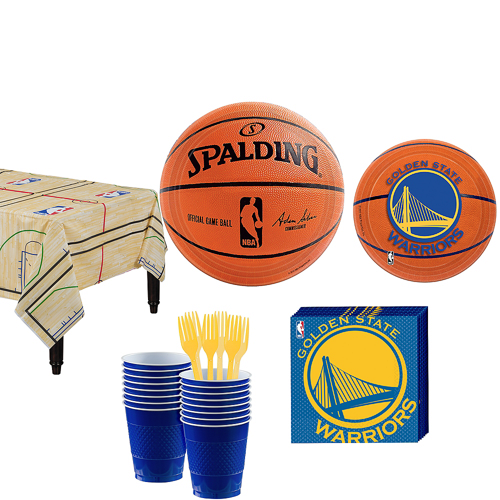 Golden State Warriors Party Kit 16 Guests Image #1