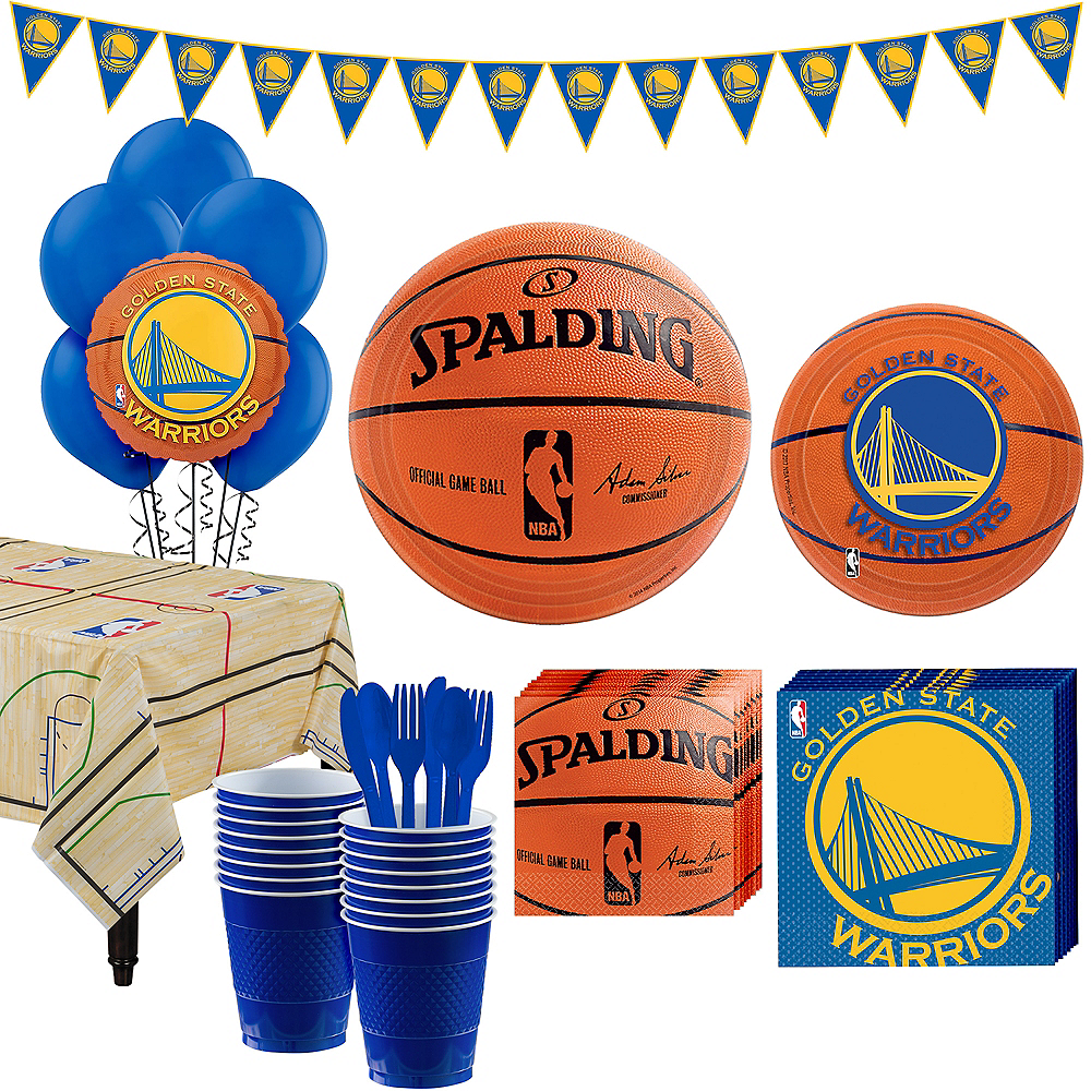 Super Golden State Warriors Party Kit 16 Guests Image #1