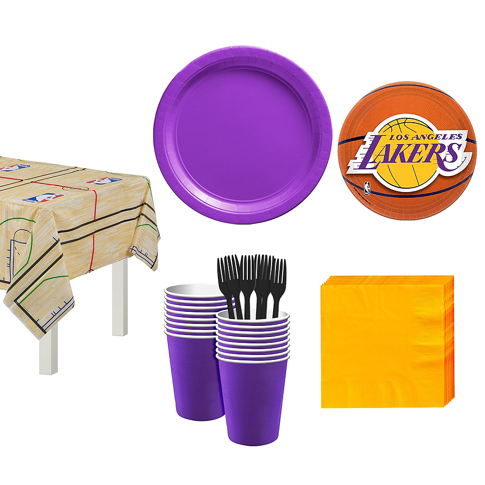 Los Angeles Lakers Party Kit 16 Guests Image #1