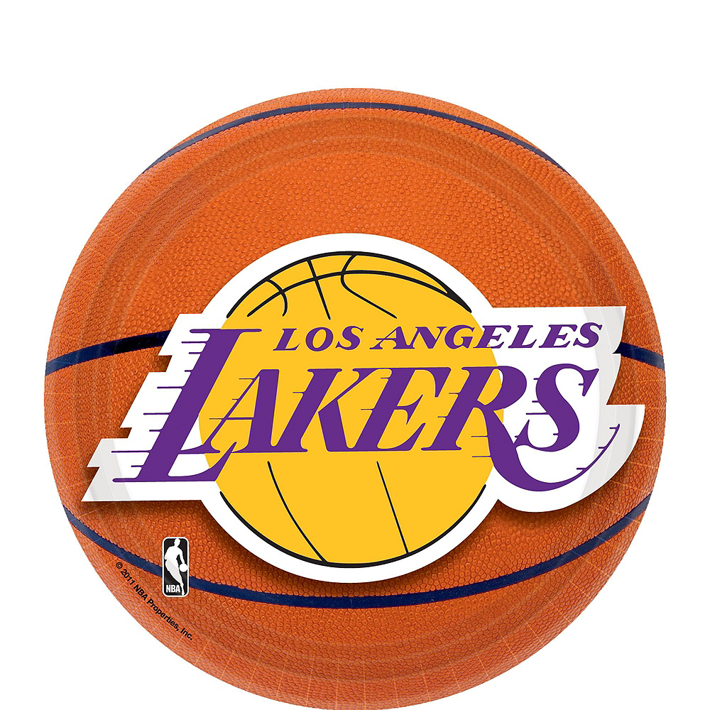 Los Angeles Lakers Party Kit 16 Guests Image #2