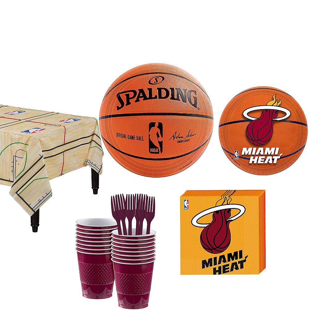 Miami Heat Party Kit 16 Guests Image #1
