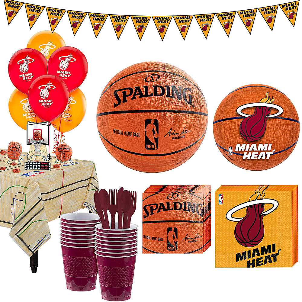Super Miami Heat Party Kit 16 Guests Image #1