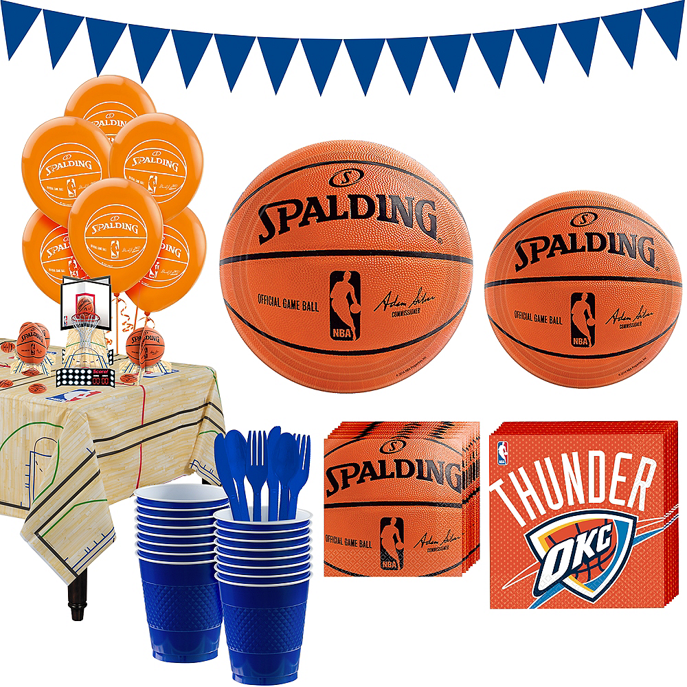 Super Oklahoma City Thunder Party Kit 16 Guests Image #1