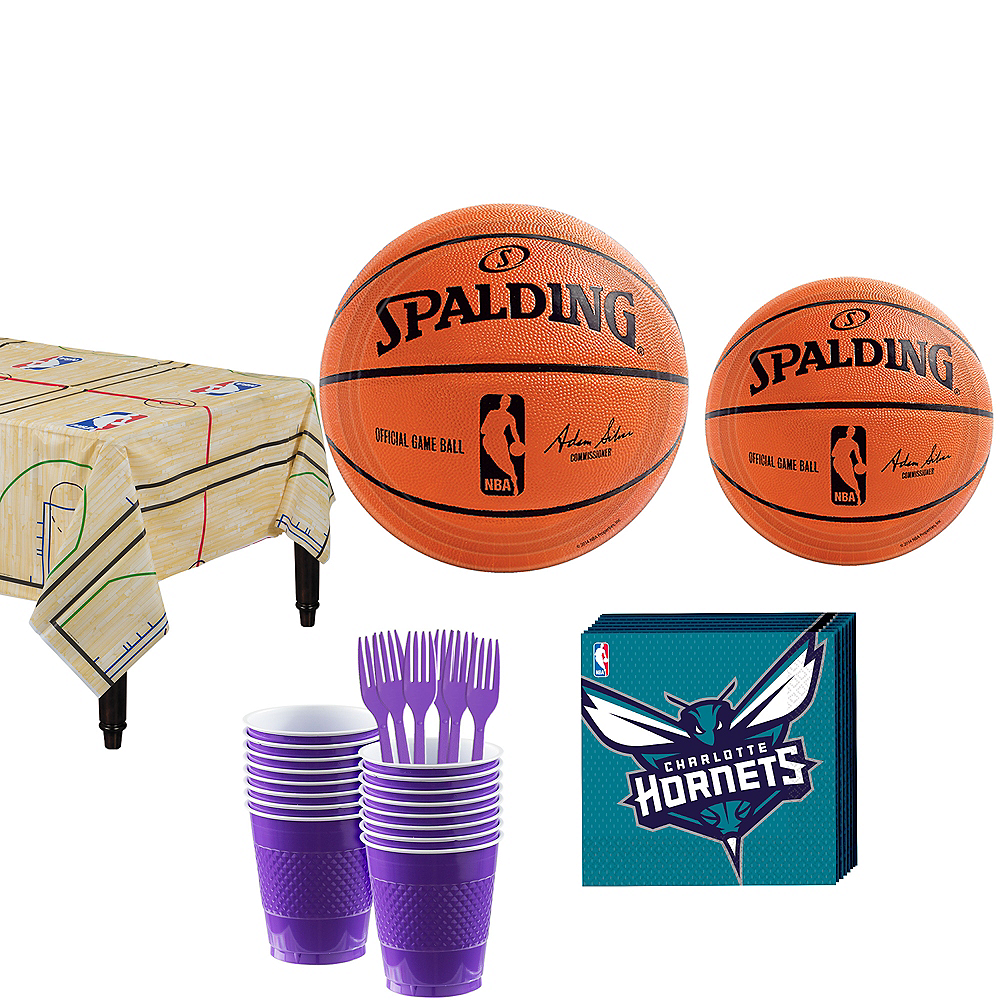 Charlotte Hornets Party Kit 16 Guests Image #1