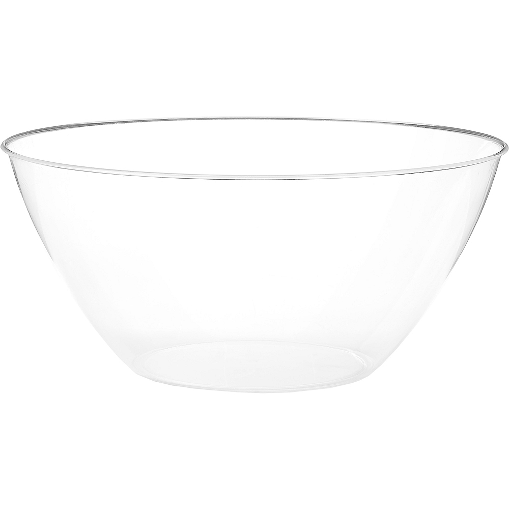 Large CLEAR Plastic Bowl Image #1
