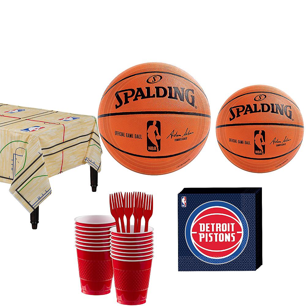 Detroit Pistons Party Kit 16 Guests Image #1