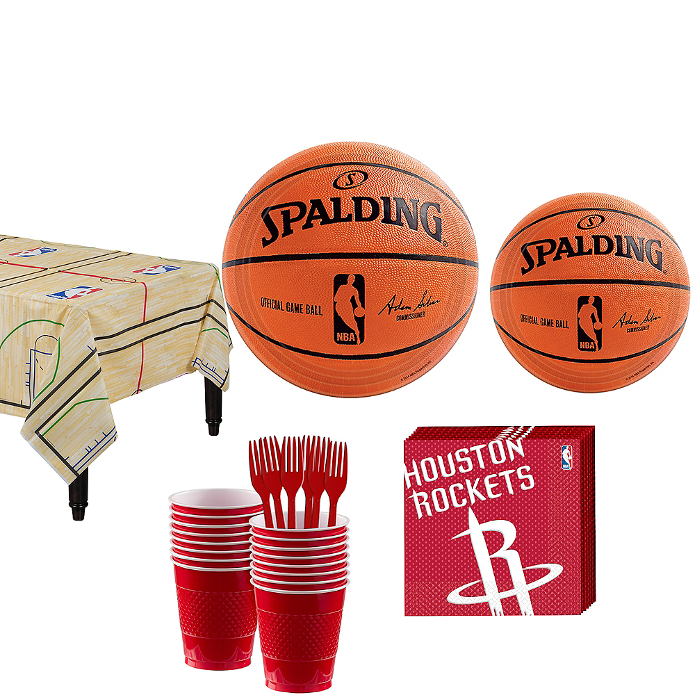 Houston Rockets Party Kit 16 Guests Image #1