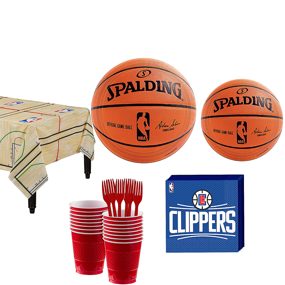 Los Angeles Clippers Party Kit 16 Guests Image #1