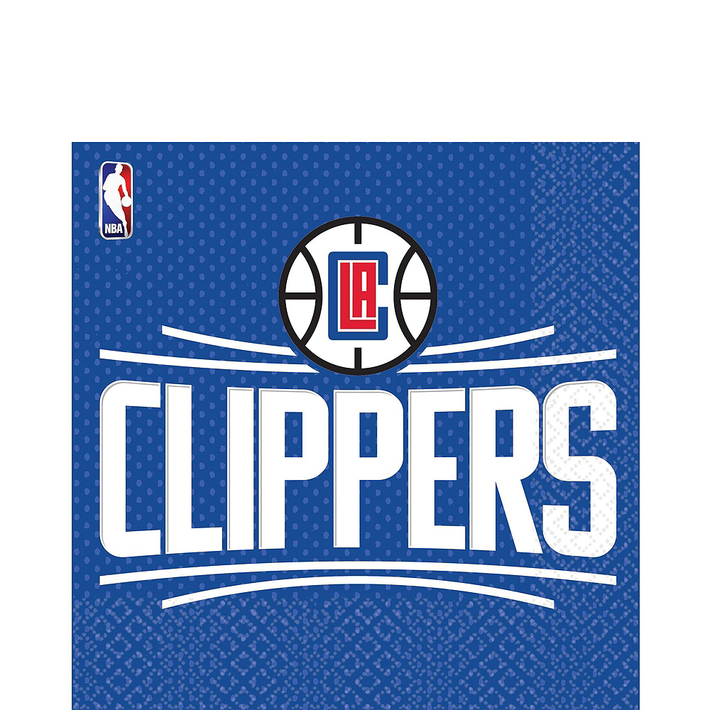 Los Angeles Clippers Party Kit 16 Guests Image #4