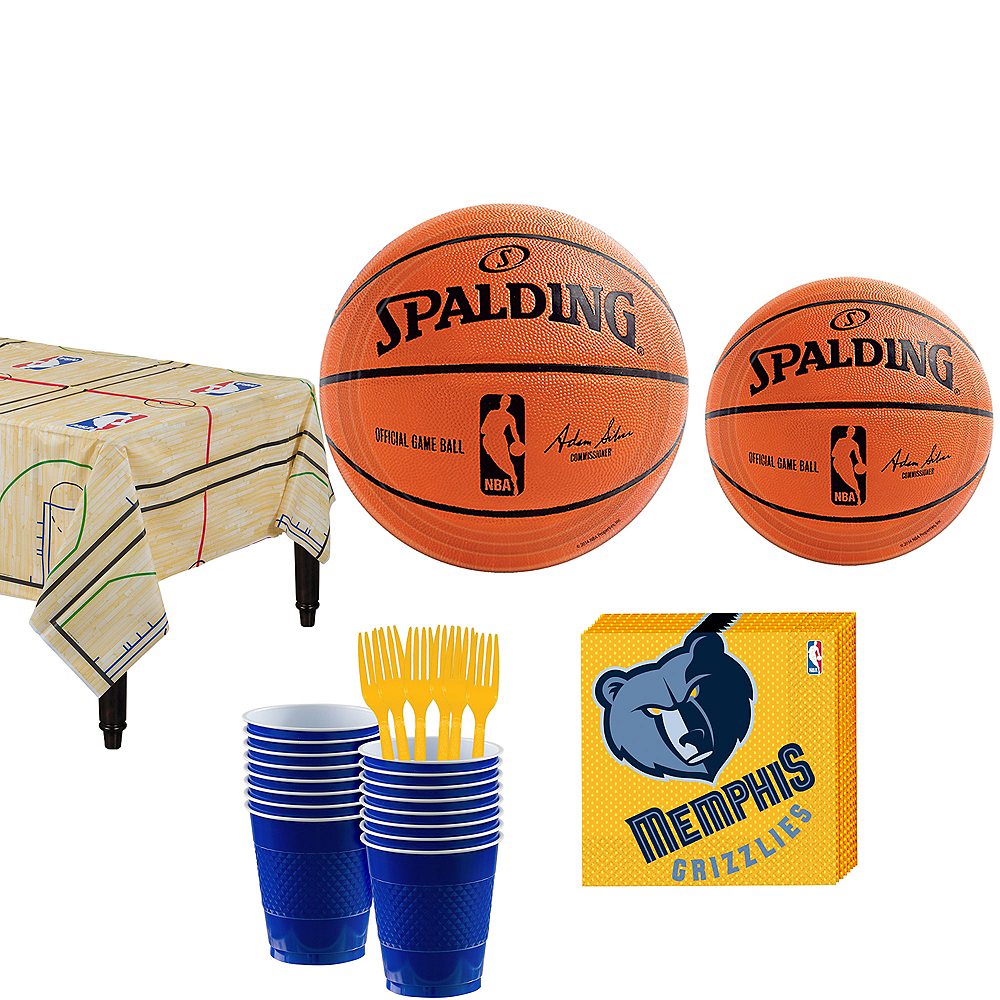 Memphis Grizzlies Party Kit 16 Guests Image #1